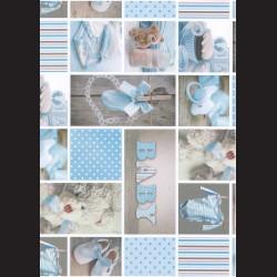 Fotokarton  A4 baby boy, tvrdý karton 300g vhodný na výrobu přání, tvoření s dětmi, scrapbook a další tvoření