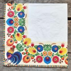 Ubrousky na decoupage lidový motiv, ubrousky na dekupáž, ubrousky na ubrouskovou techniku, dekorativní ubrousky, ubrousek a květ