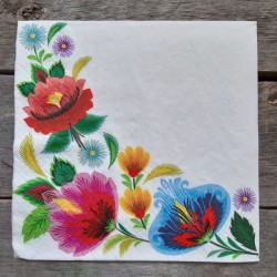 Ubrousky na decoupage lidové motivy, ubrousky na dekupáž, ubrousky na ubrouskovou techniku, dekorativní ubrousky, ubrousek a kvě