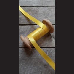 Atlasová stuha, sytě žlutá stužka, výhodné balení, 12 mm x 32 m