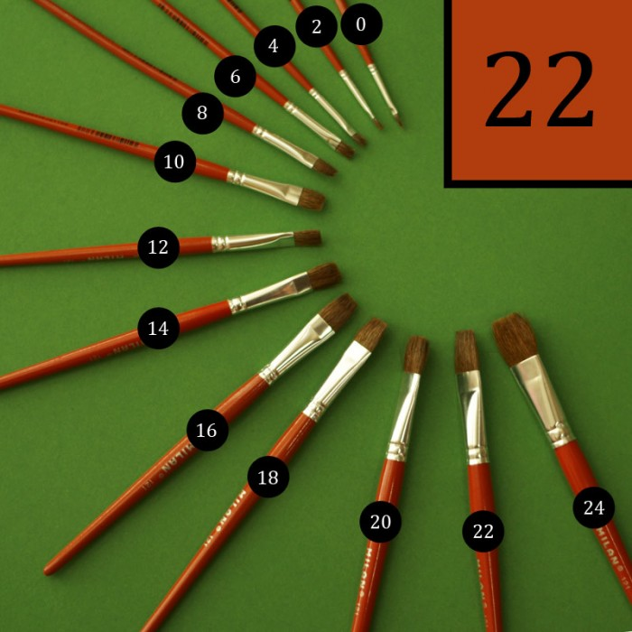Vlasový kulatý štětec Milan - č. 22. štětec na malování, štětec na malbu, štětec na akvarel, školní štětec
