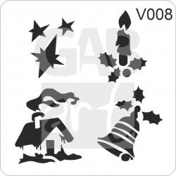 Vánoční motivy - šablona V08