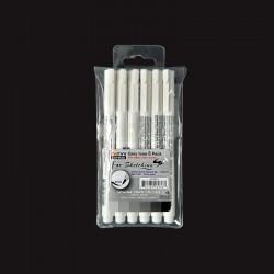 Sada štětcových linerů - šedé odstíny 6ks