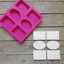 Forma na odlévání, reliéfní motivy, vhodné na odlévání sádry, kreativního betonu, mýdlové hmoty, samotvrdnoucí hmoty nebo polyme