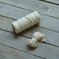 Macrame příze - přírodní bílá, 10m, macrame provázek, macrame lano, macrame bavlnka