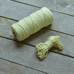 Macrame příze - světlá limetková, 10m, macrame provázek, macrame lano, macrame bavlnka