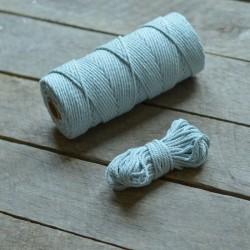 Macrame příze - světle modrá, 10m, macrame provázek, macrame lano, macrame bavlnka