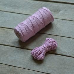 Macrame příze - světle růžová, 10m, macrame provázek, macrame lano, macrame bavlnka