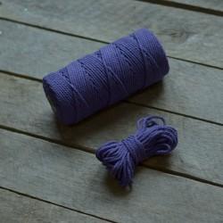 Macrame příze - fialová, 10m, macrame provázek, macrame lano, macrame bavlnka