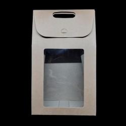 Skládací dárková krabička s průhledem, vel. 10, vhodné jako dárková krabička a také k dalšímu kreativnímu dotvoření
