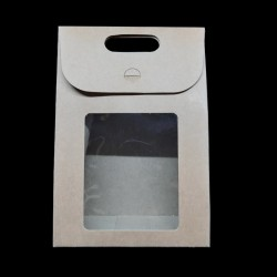 Skládací dárková krabička s průhledem, vel. 9, vhodné jako dárková krabička a také k dalšímu kreativnímu dotvoření