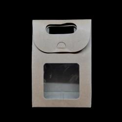Skládací dárková krabička s průhledem, vel. 8, vhodné jako dárková krabička a také k dalšímu kreativnímu dotvoření
