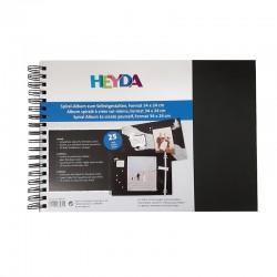 Scrapbookové fotoalbum černé, vhodné pro tvorbu fotoalb, svatebních alb, deníků apod.