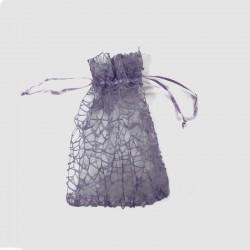 Organzový pytlík fialový