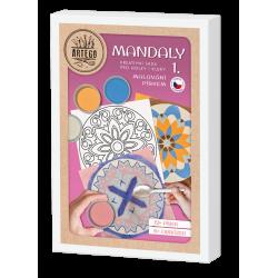 Malování pískem- MANDALY 1 sada 6 obrázků pískování, mandala jednoduchá i složitá pro děti i dopělé