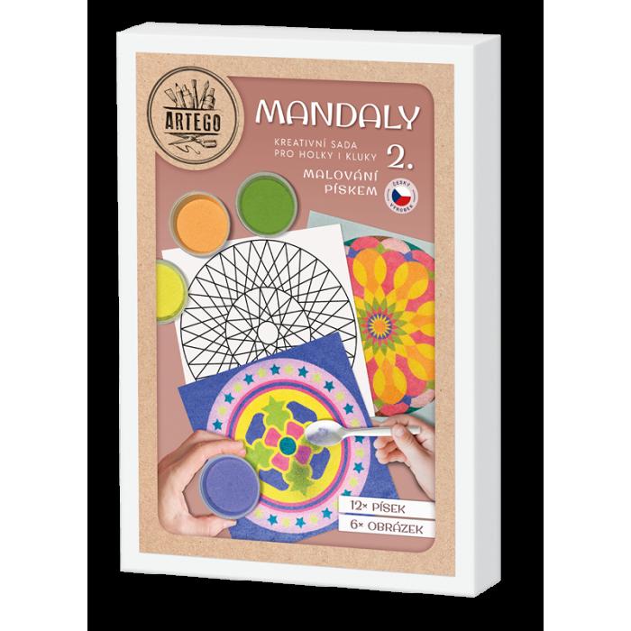 Malování pískem- MANDALY 2 malování pískem mandala jednoduchá i složitá pro děti i dospělé 6 obrázků