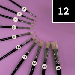 Štětinový štětec Koh-i-noor č. 12, plochý, plochý štětec Koh-I-Noor je vhodný pro školní a kreativní účely