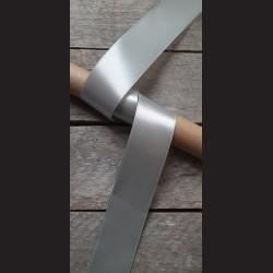 Atlasová stuha, šedozelená, 38mm, mašle, vhodné pro dekoraci, dárková balení, scrapbooking a další kreativní tvoření.