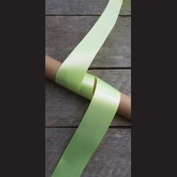 Atlasová stuha, zelenožlutá, 38mm, mašle, vhodné pro dekoraci, dárková balení, scrapbooking a další kreativní tvoření.