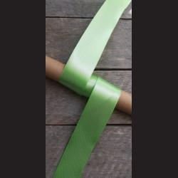 Atlasová stuha, světle zelená, 38mm, mašle, vhodné pro dekoraci, dárková balení, scrapbooking a další kreativní tvoření.