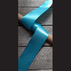 Atlasová stuha, azurově modrá, 50mm