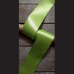 Atlasová stuha, jablkově zelená, 50mm, mašle, vhodné pro dekoraci, dárková balení, scrapbooking a další kreativní tvoření.