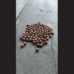 Dřevěné korálky přírodní ořech 10 mm-100ks vhodné na korálkování, výrobu lapače snů. Vhodné po děti i dospělé