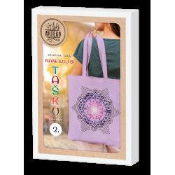 Namaluj si tašku 2, kreativní sada na výrobu malované bavlněné tašky, mandala, vhodné pro děti i dospělé