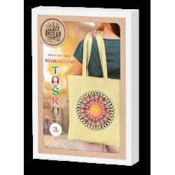 Namaluj si tašku 3, kreativní sada na výrobu malované bavlněné tašky, mandala, vhodné pro děti i dospělé