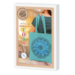 Namaluj si tašku 4, kreativní sada na výrobu malované bavlněné tašky, mandala, vhodné pro děti i dospělé