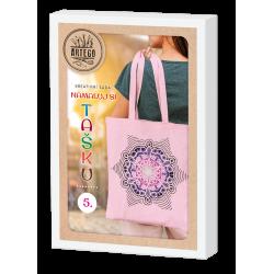 Namaluj si tašku 5, kreativní sada na výrobu malované bavlněné tašky, mandala, vhodné pro děti i dospělé