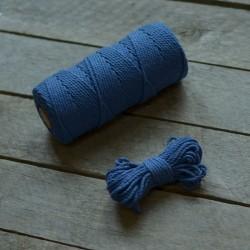 Macrame příze - modrá, 10m, macrame provázek, macrame lano, macrame bavlnka