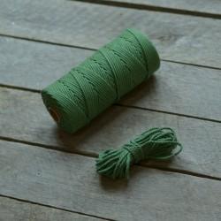 Macrame příze - lesní zelená, 10m, macrame provázek, macrame lano, macrame bavlnka