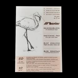 Skicák - A5, 60g, 50 listů, vhodný na tužku, uhel, tuhu, na skicování a kresbu.