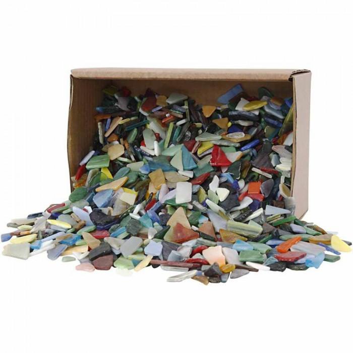 Mozaika skleněné střepy - mix, 1 kg