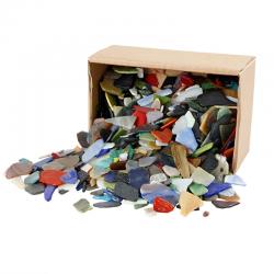 Mozaikové skleněné střepy - mix, 1 kg