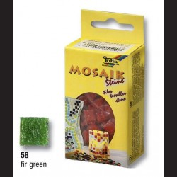 Mozaikové kamínky - zelené tmavé, 10x10 mm, 300 ks