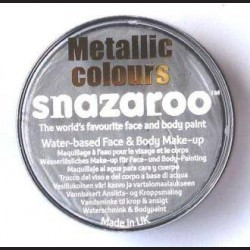 Barva na obličej metalická stříbrná