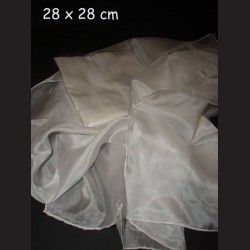 Hedvábný šátek ponge, 28 x 28 cm