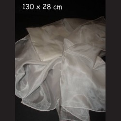 Hedvábný šál ponge, 114 x 28 cm