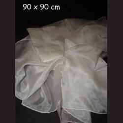 Hedvábný šátek crepe de chine, 90 x 90 cm
