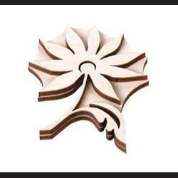 Dřevěné razítko květina se stonkem 2