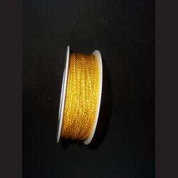 Kroucený provázek - žlutý, 2 mm