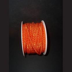 Kroucený provázek - oranžový, 4 mm