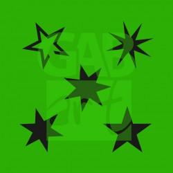 Plastová šablona Hvězdy V06