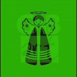 Plastová šablona - anděl, V01
