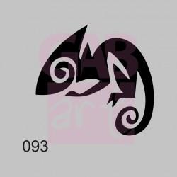 Plastová šablona - chameleon, 093