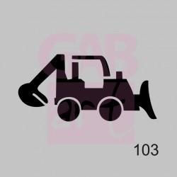 Buldozer - šablona 103
