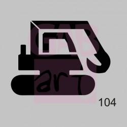 Bagr - šablona 104