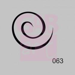 Spirála  - šablona 063